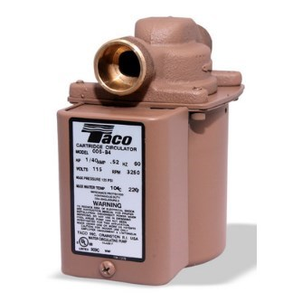 "CIRCULATOR PUMP 3/4"" SWT 1/40hp BRONZE TACO"