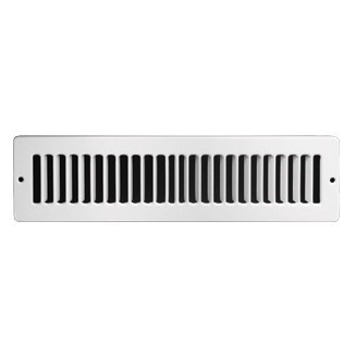 "GRILLE TOE SPACE 2""x10"" WHITE ACCORD (60)"