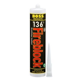 SEALANT FIRE / DRAFT STOP RED 10.1 oz FIREBLOCK BOSS (12)