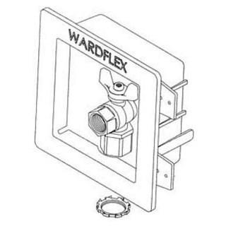 "KIT VALVE FLUSH MOUNT 1/2"" GAS WARDFLEX (10)"