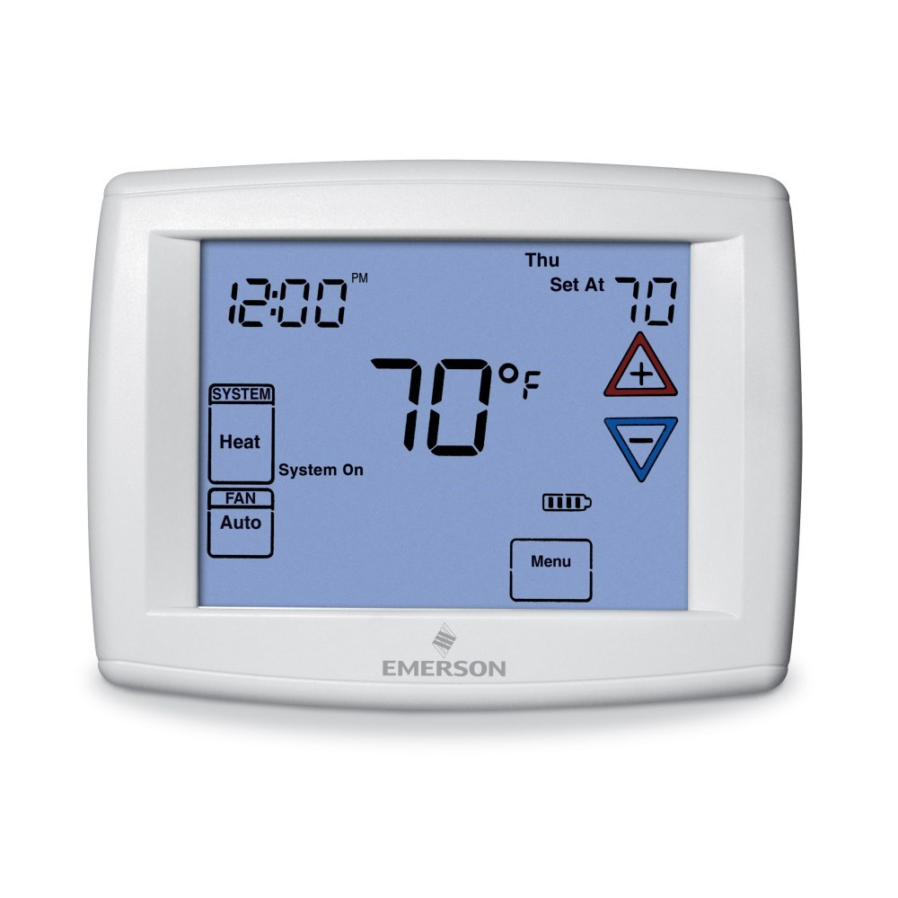 TSTAT TOUCHSCREEN 7 DAY 1 HEAT 1 COOL WHITE RODGERS (6), item number: 1F97-1277