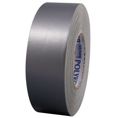 TAPE DUCT 2inx180ft SILVER UL 723 POLYKEN (24), item number: 229-2