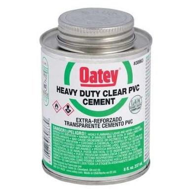 CEMENT PVC CLEAR HEAVY DUTY 8 OZ. OATEY (24)