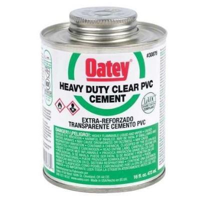 CEMENT PVC CLEAR HEAVY DUTY 16 OZ. OATEY (24)
