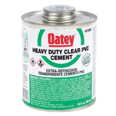 CEMENT PVC CLEAR HEAVY DUTY 32 OZ. OATEY (12), item number: 31008