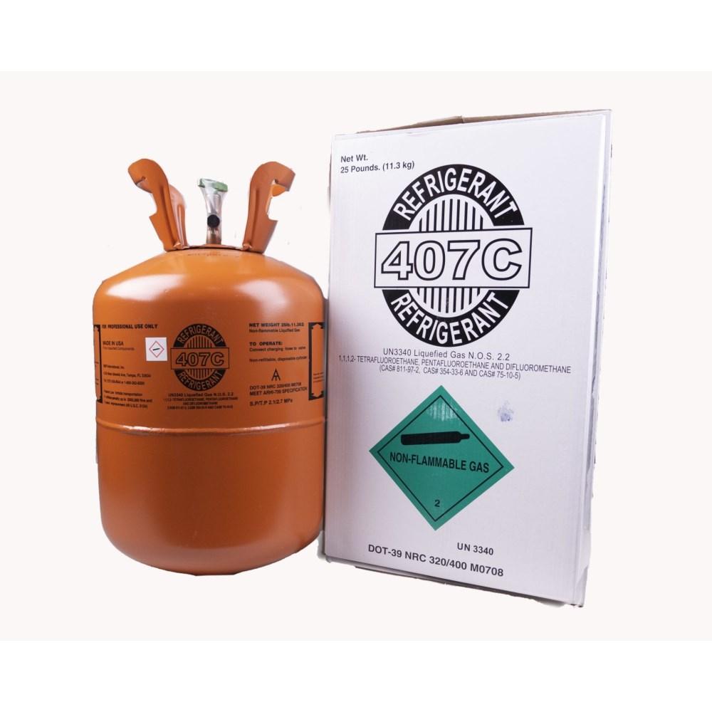 REFRIGERANT 407C 25 lb. 11.3 kg, item number: R-407C-25