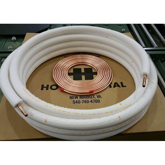 LINESET DUAL INSULATED PE WHITE 1/4in x 1/2in x 3/4in WALL x 20ft, item number: 40890-20-3/4
