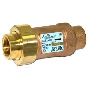DUAL CHECK VALVE 1in LEAD FREE CONBRACO, item number: 4NLF-3A5-5A