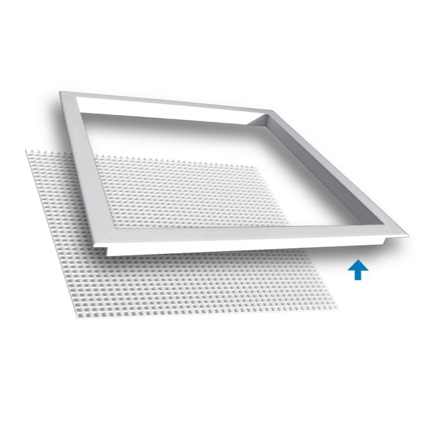 FRAME SURFACE MOUNT 24inx24in WHITE TRUAIRE (5), item number: 5000XF-24X24