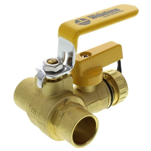 BALL VALVE FULL PORT SWT 3/4in WITH HOSE DRAIN WEBSTONE (6), item number: 50613