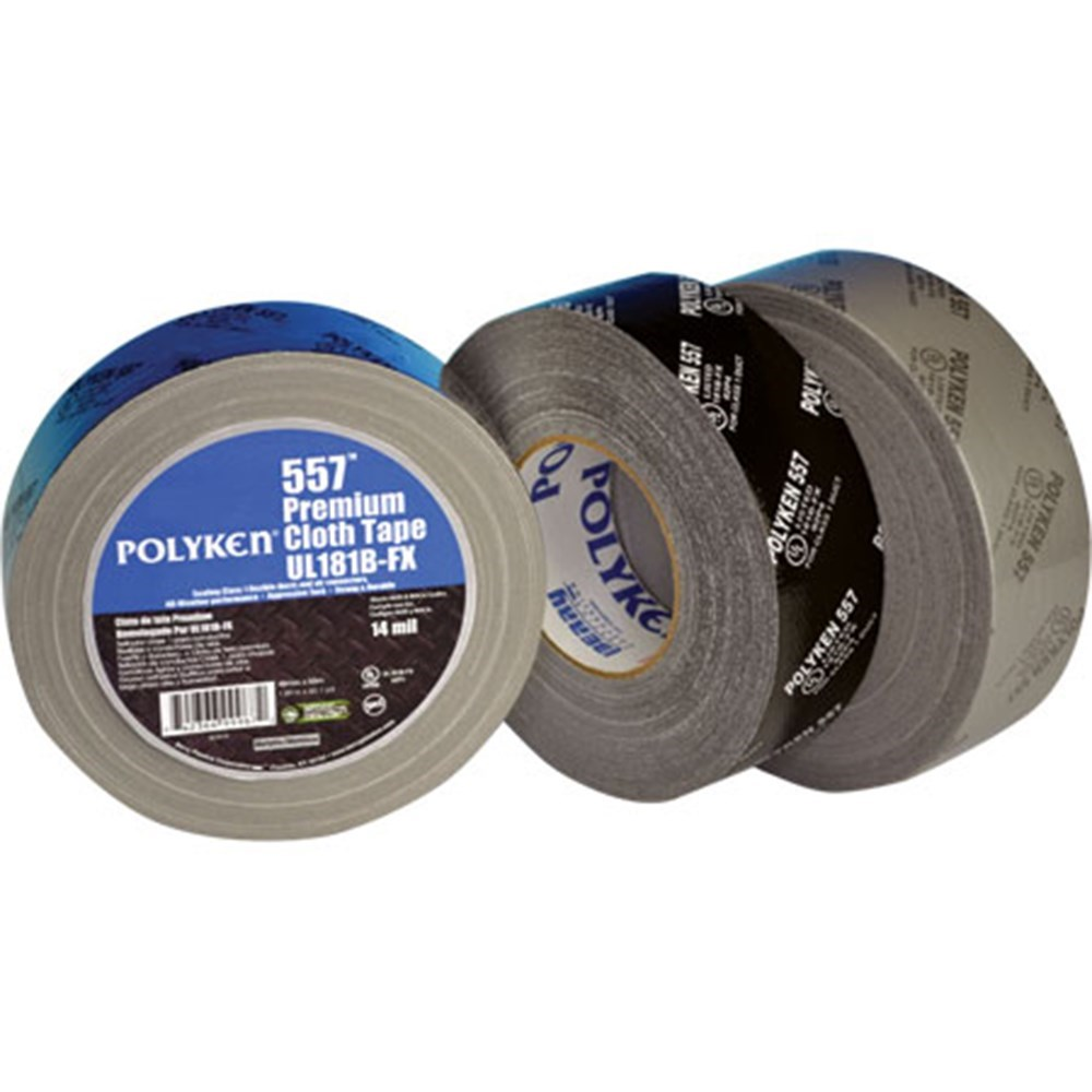 "TAPE FLEXIBLE DUCT 2""x180' UL 181B SILVER POLYKEN (24)"