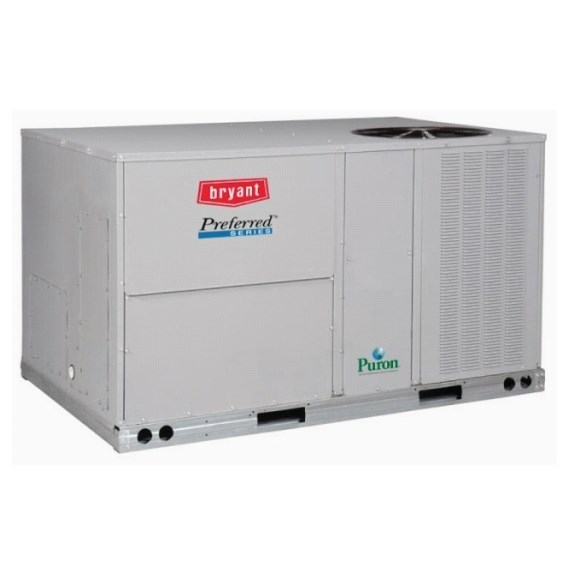 ROOFTOP HIGH EFF 230v  3ph 4 ton COOL 115 mbh HEAT BRYANT, item number: 581JP05A115A0A0AA