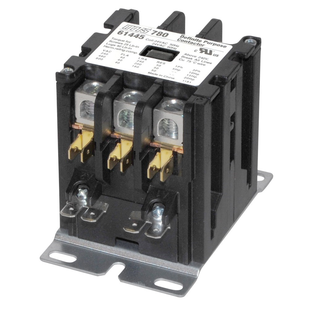 CONTACTOR 3 POLE (61446) 40amp 120v FURNAS, item number: 42CF35AF