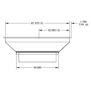 ADAPTER CURB WITH TRANSITION 1-3000-4000 MICRO METL, item number: 0823-4800DT