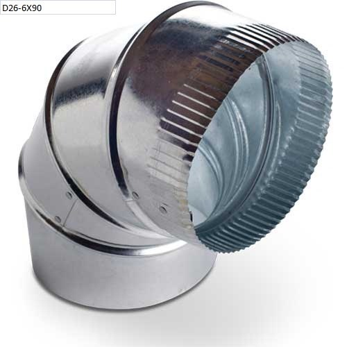 ELBOW GALV 20in 26 ga HEATING & COOLING 90 DEG, item number: D26-20X90
