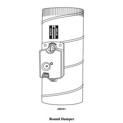DAMPER ZONE ROUND 10in BRYANT, item number: DAMPRND10INC