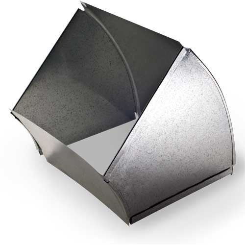 """ANGLE DUCT VERTICAL 8""""x8"""" HEATING & COOLING (18)"""