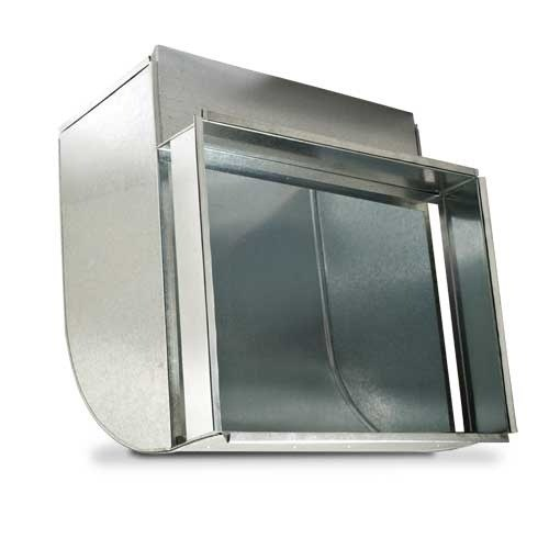 """BOOT RETURN AIR 16""""x24"""" WITH 4"""" FILTER RACK LONG THROAT"""