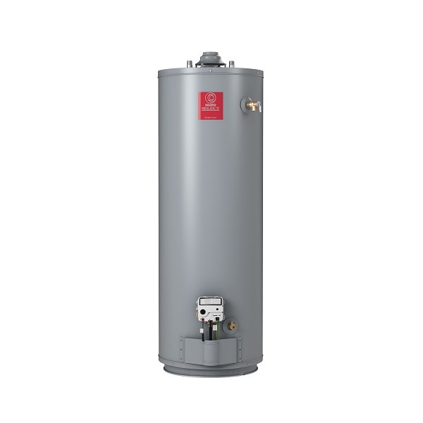 WATER HEATER 50 gal 40 mbh 62% EFF NAT GAS TALL STATE, item number: GS650BCT