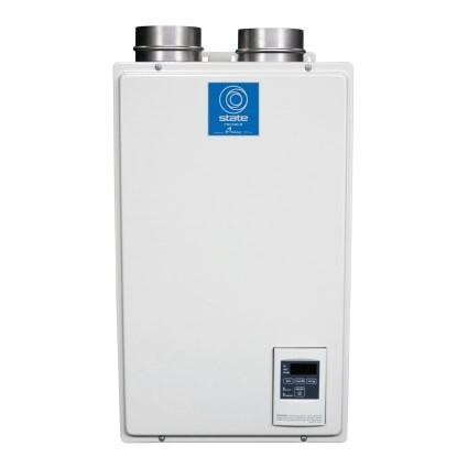 WATER HEATER TANKLESS 93% EFF 120 mbh PVC VENTED STATE