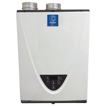 WATER HEATER TANKLESS 95% EFF 199 mbh PVC VENTED LP STATE
