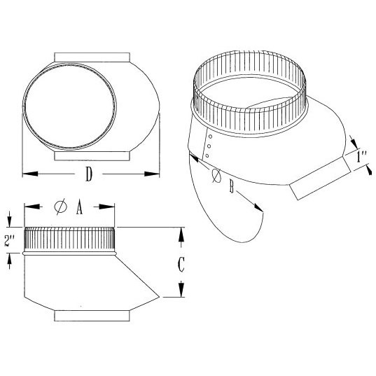 TAP SHOE SPIRAL PCD 6in FOR 6in THRU 10in PIPE (6), item number: PCDST-6