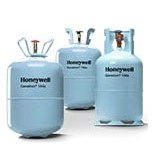 REFRIGERANT 134a 30 lb. 13.6 kg USE WITH POE OIL HONEYWELL