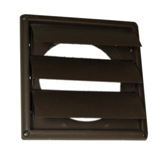 "HOOD VENT PLASTIC LOUVERED 6"" BROWN DEFLECTO (12)"