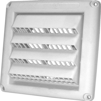 "VENT INTAKE LOUVERED FRESH AIR 4"" WHITE DEFLECTO (24)"