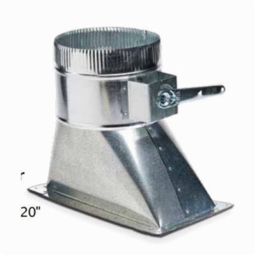 SIDE TAKE OFF HIGH EFF DAMPER 6inx12inx8in 26 ga (10), item number: 240-6X12X8