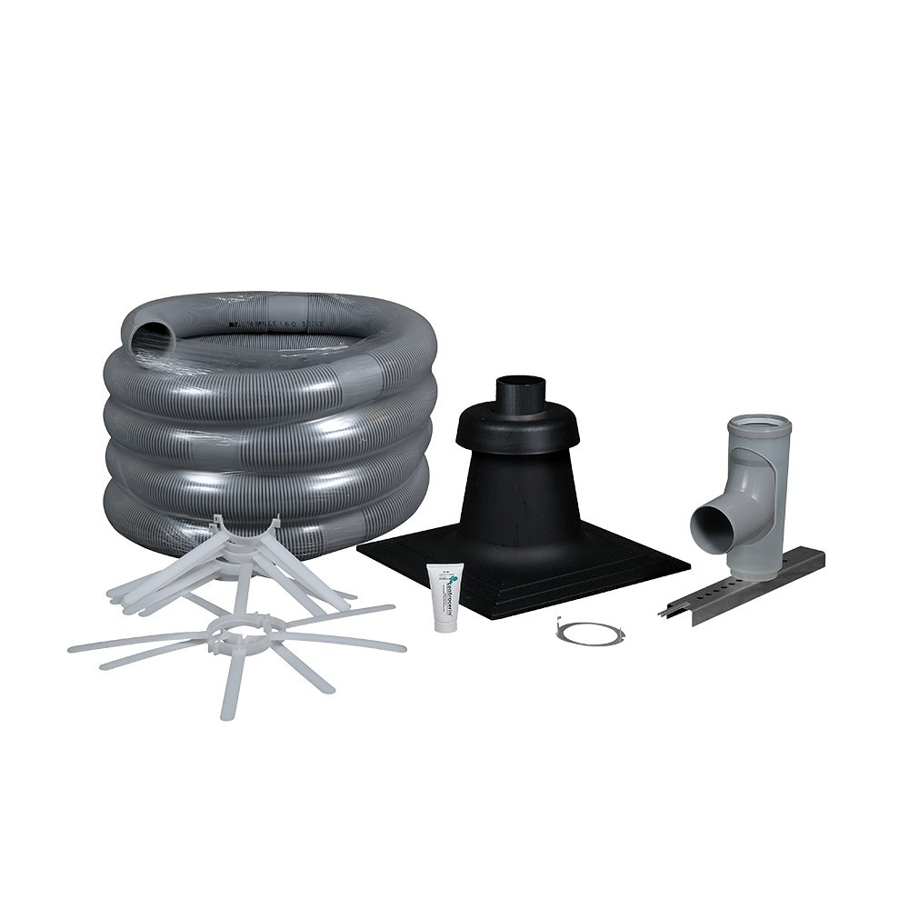 "FLEX CHIMNEY KIT 3"" X 35' POLYPROPYLENE CENTROTHERM"