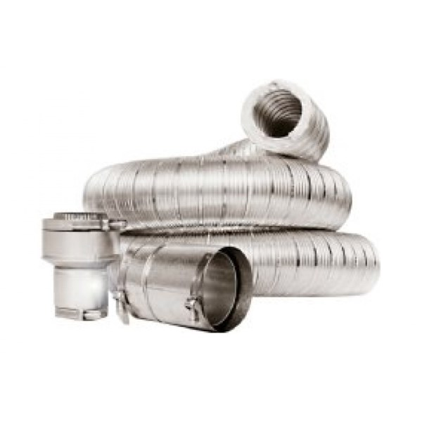 KIT CONNECTOR INSULATED VENT 4inx6ft Z FLEX, item number: IVC-4X6