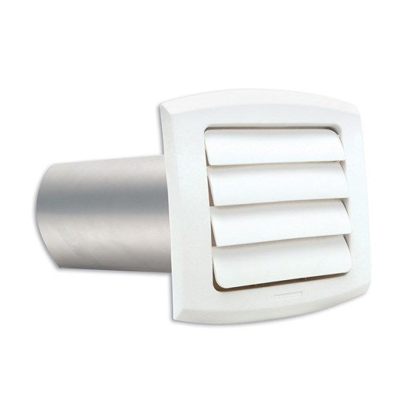 VENT HOOD LOUVER WHITE 4in w/ PIPE PROVENT DUNDAS JAFINE (12), item number: LH4WXZ