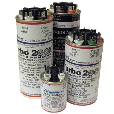 TURBO 200 67.5mfd 370 OR 440 VAC RUN CAPACITOR MARS (20)