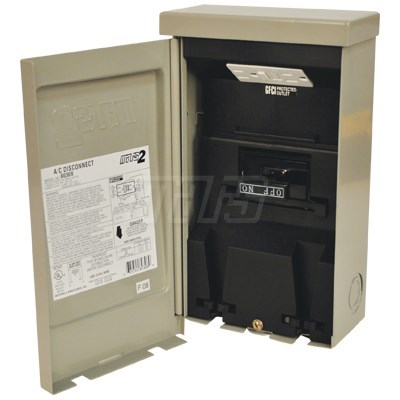 BOX DISCONNECT 60amp NON FUSED PULLOUT GFCI RECEPTACLE MARS