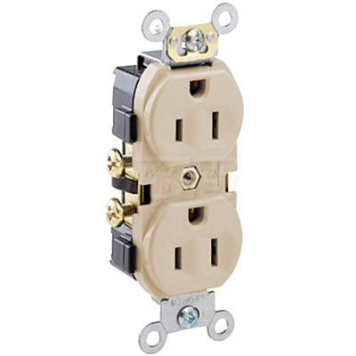 RECEPTACLE DUPLEX WITH GROUND 15amp 125v MARS (10)