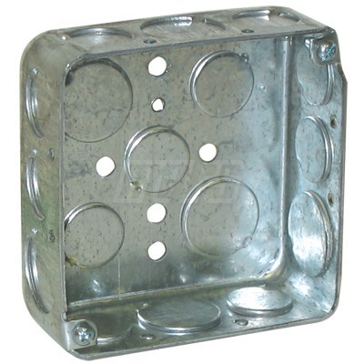 """BOX STEEL SQUARE WITH KNOCKOUTS 4""""x4"""" MARS (25)"""