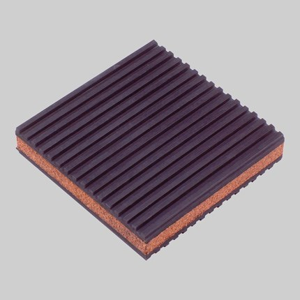 PAD VIBRATION CORK & RUBBER 4inx4in (24), item number: MP-4C