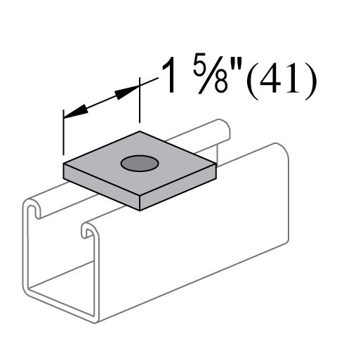 WASHER SQUARE 3/8in POWER STRUT (100), item number: PS619