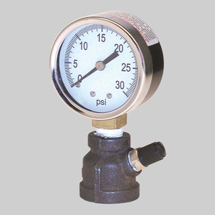 "GAUGE GAS PRESSURE TEST 0 TO 30 lb 1"" END"