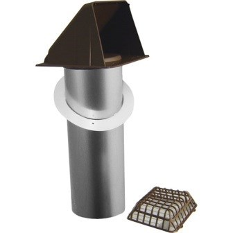 HOOD VENT BATHROOM WIDE MOUTH ASSEMBLED 4in BROWN DEFLECTO (6), item number: RVHAB4