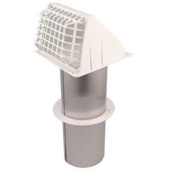"HOOD VENT BATHROOM WIDE MOUTH ASSEMBLED 4"" WHITE DEFLECTO (6)"