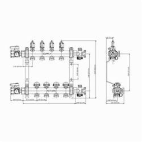 MANIFOLD WITH 10 STATIONS PRO-BALANCE REHAU, item number: 240101-100