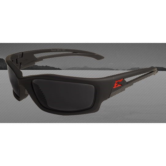 GLASSES MATTE BLACK FRAME SMOKE LENS KAZBEK EDGE