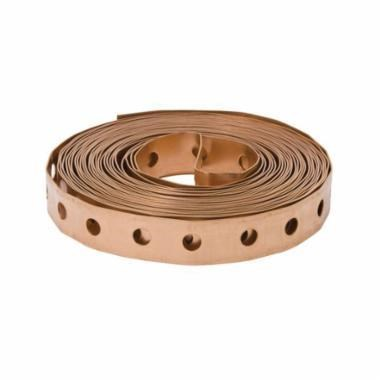 PERFORATED COPPER STRAP 25 ft. MUELLER (10), item number: A-1211