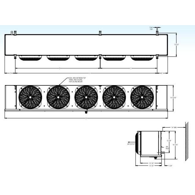 PLPH-1210A LO-PROFILE AIR DEFROST 115v TECUMSEH