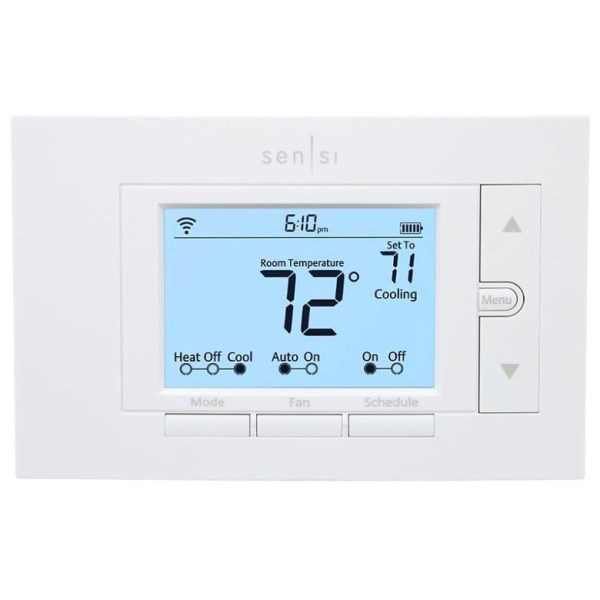 TSTAT SENSI WI-FI GEOFENCING SMART HOME 4H 2C WHITE RODGERS, item number: 1F87U-42WF