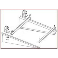 HANGER SUPPORT 45in ADJUSTABLE 20in TO 36in WIDTH DUCTMATE (25), item number: AIRBRACE45S