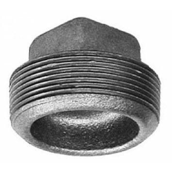"PLUG CORED BLACK PIPE 1/2"" (25)"