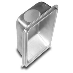 """DRYER BOX METAL UPWARD 2""""x6"""" WALL (5)"""